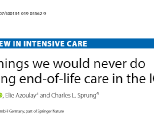 Eight things we would never do regarding end-of-life care in the ICU