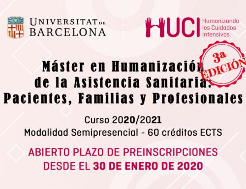 Prolongadas inscripciones a la 3ª Edición del Máster en Humanización