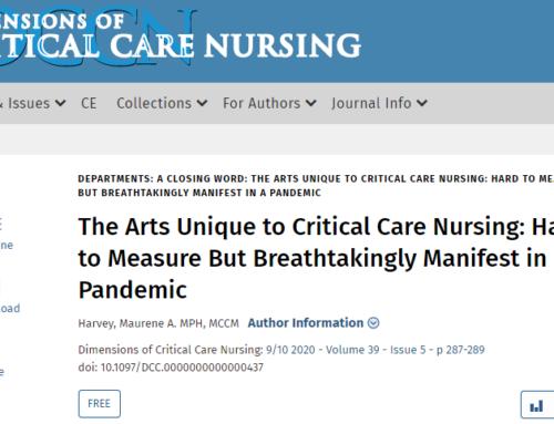 Las artes únicas de la Enfermería de Cuidados Críticos