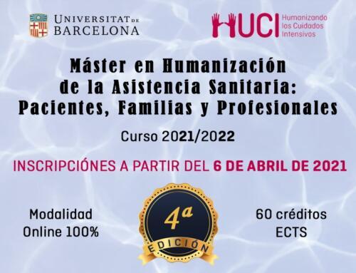 Abiertas las inscripciones al 4ª Edición del Máster de Humanización de la Asistencia Sanitaria