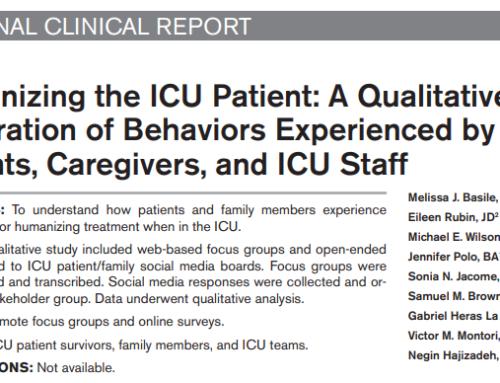 Humanizar al paciente de la UCI: Una exploración cualitativa de los comportamientos experimentados por los pacientes, los cuidadores y el personal de la UCI