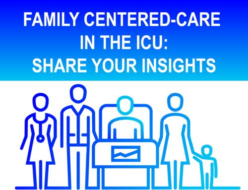 Encuesta ESICM sobre atención centrada en las familias